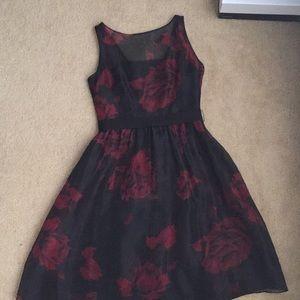Ann Taylor floral evening dress, size 2p